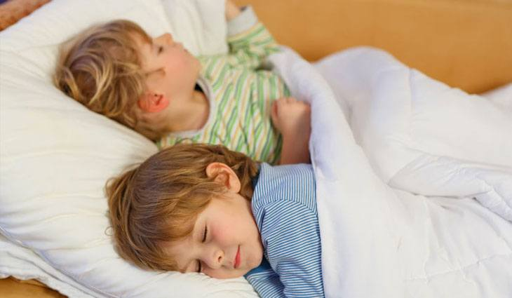 kinderen slapen - 5 causes of sleep problems With children